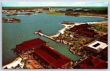 Aerial View of the Polynesian Village at Walt Disney World Postcard Unused