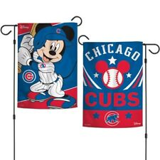 "New Disney Mickey Mouse Chicago Cubs MLB 2 Sided 12.5 X 18"" Garden  Flag"
