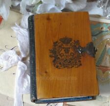 Antique 1865 - FRENCH DIARY - Petite for Ladies - Wood top and base cover