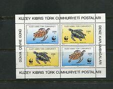 TURTLES/WWF - Turkish Cyprus - 1992 sheet 2 each - (SC 328A) -MNH- C240