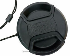 49mm Centre Pinch Lens Cap w/ keeper - Universal: Fits any lens with 49mm filter