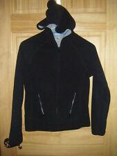 Girls OLD NAVY BRAND LS Black Zip Polyester Fleece Hoodie Jacket/Coat Sz XL
