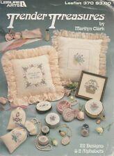Leisure Arts Tender Treasures floral cross stitch & wedding sampler - 1985