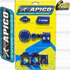 Apico Bling Pack Blue Blocks Caps Plugs Clamp Cover For Yamaha YZ 250F 2014-2015
