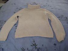Ladies J Crew Beige Cotton Turtleneck Sweater  Size XS J.Crew Solid