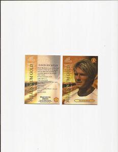 DAVID BECKHAM ~ FUTERA PLATINUM ~ MILLENIUM GOLD CARD ~ 2000