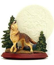 "Moonlight Majesty Wolf Collector's Plate Bradford Exchange 7.5"" Light Up #58673"