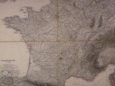 Ancienne Carte Géographique France 1801 Vogel(1828-1897)Frankreich allemagne map