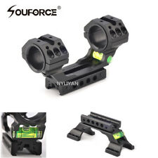 "1""/30mm Double Ring Scope Mount &Spirit Bubble Level 20mm/11mm Picatiny Rail"