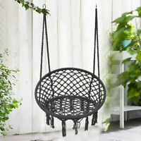 Macrame Hammock Chair Hanging Cotton Rope Swing Outdoor Home Garden Decor 120k