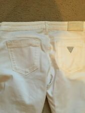 BNWT GUESS WHITE SKINNY STRETCH SEXY JEANS SIZE 28 (10) DIAMANTE TO REAR