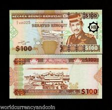 BRUNEI  100 RINGGIT P26 1996 AIRPLANE SULTAN UNC WORLD CURRENCY MONEY BANK NOTE