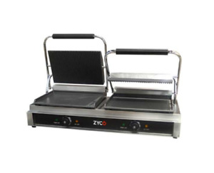 ZYCO PROFFESSIONAL COMMERCIAL TWIN PANINI CONTACT GRILL (12 MONTH WARRANTY)