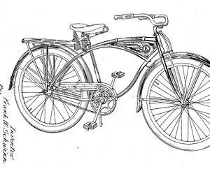 Old, antique bicycle, fram, bracket - SCHWINN Co. : Infos 1914 - 1980
