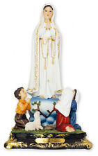 Mary Our Lady of Fatima and Children  - Resin Florentine Statue - Religious Gift