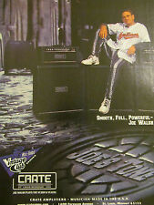 Joe Walsh, Crate Amplifiers, Full Page Promotional Ad