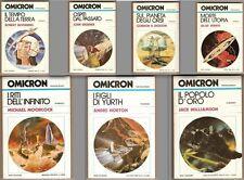 Moorcock Silverberg Brunner Williamson OMICRON 1/8 SERIE COMPLETA 1981 COMENUOVO