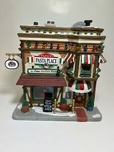 Lemax PAPA'S PASTA PLACE #75254 Christmas Collection Village Light Up House