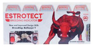 Estrotect Heat Estrus Detector Patches EstroAlert 50 Count RED Breeding Cattle