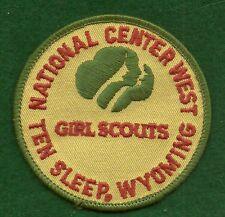 VINTAGEGIRL SCOUTS NATIONAL CENTER WEST TEN SLEEP, WYOMING PATCH