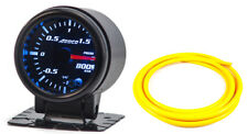 "52mm 2"" Turbo Boost Gauge Bar Digital Sensor /Analogue Display & Yellow Hose"