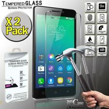 2 Pack Premium Real Tempered Glass Film Screen Protector for Lenovo Vibe P1m