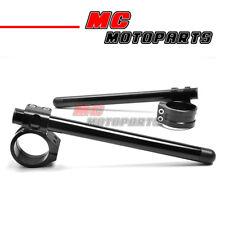 Black Clip on Adjustment Handle Bar For Honda CBR 600 RR 2005 2006