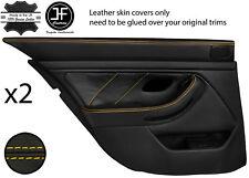 Yellow Stitch Arrière 2X complet porte carte en cuir couvre Fits BMW 5 Series E39 95-03