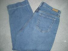 EDDIE BAUER Women Jeans Size 10 SUMMER CAPRI  Blue Cotton WOMENS EUC PANTS MINT