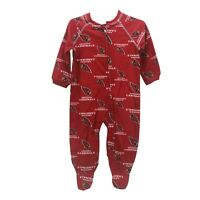 Arizona Cardinals Official NFL Apparel Baby Infant Size Pajama Sleeper Bodysuit