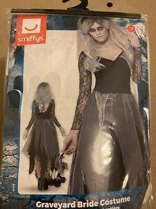 Zombie Graveyard Bride Costume Ghost Corpse Womens Halloween Plus Fancy Dress XL