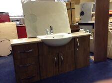Zanzibar Wood Grain Bathroom furniture Suite Vanity Unit Ex Display Delivery *