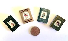 Dollhouse Miniature Vintage Style Beatrix Potter Books - Set of 4 - Collection 1