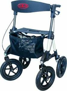 Aluminium Outdoor Rollator with Pneumatic Tyres for All Terrains