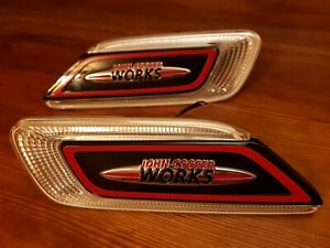 GENUINE MINI JCW SIDE WING INDICATOR GRILL SET PAIR FOR F54