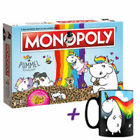 "Monopoly Pummeleinhorn Coleccionista Edición Oro + Taza Mágica Unicornio"""