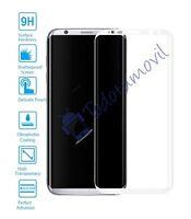 Protection Ecran Verre Trempé Incurvé pour Samsung Galaxy S8 Plus Blanc