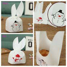 Neu Kaninchen Weihnachten Süßigkeiten Gefallen Plätzchen Pack Tasche Verpackung