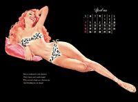 Pinup Calendar 1954 Vintage Esquire Girl Deluxe Ed. E. Chiraka April EX/NM COA
