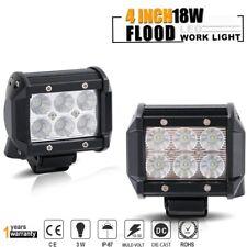 2PCS 18W Flood LED Work Light Driving Off Road Boat Fog ATV UTV Reverse Lamp
