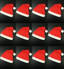 PACK OF 100 FATHER CHRISTMAS RED SANTA HAT XMAS OFFICE PARTY ACCESSORY