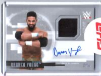 WWE Darren Young 2017 Topps Undisputed Silver Autograph Relic Card SN 2 of 50