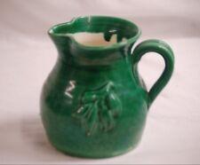 Classic Style Ceramic Green Pitcher w Design Unknown Maker