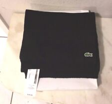 LACOSTE BLACK WOOL BLEND SCARF NEW WITH TAGS & BOX