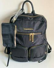 NEW STEVE MADDEN BFUFF BLACK LARGE TRAVEL BACKPACK BAG PURSE W/WRISTLET $88 SALE