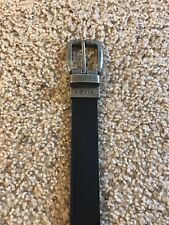 Boy's Levi's Leather Reversible Black / Brown Strass Belt - Size Small 22-24 Euc