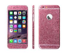 2 x Glitzerfolie für iPhone 6 6S Bling Glitter Skin FullBody Sticker Schutzfolie
