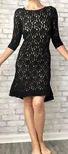Venus Short Lace Dress, Black, Size 8