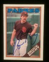 BRUCE BOCHY 1988 TOPPS Autographed Signed AUTO Baseball Card 31 GIANTS MANAGER