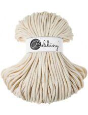 Bobbiny koord color: NATURAL / 100% Cotton 5mm Bobbiny Rope 100m  Macrame Cord